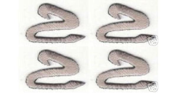 Lot 2 Gray Grey Monogram Script Cursive letter Z Patch