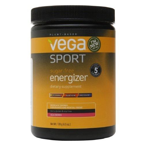 Vega Sport Sugar-Free Energizer Powder, Acai Berry 4.52 oz (136 g)