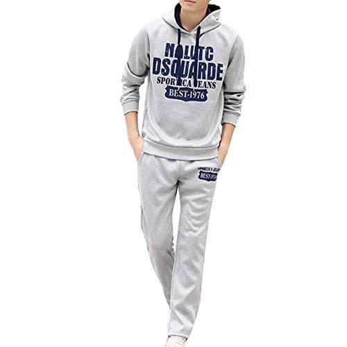 UJUNAOR Fashion Men's Long Sleeved Alphabetic Printing Hoodie Leisure...