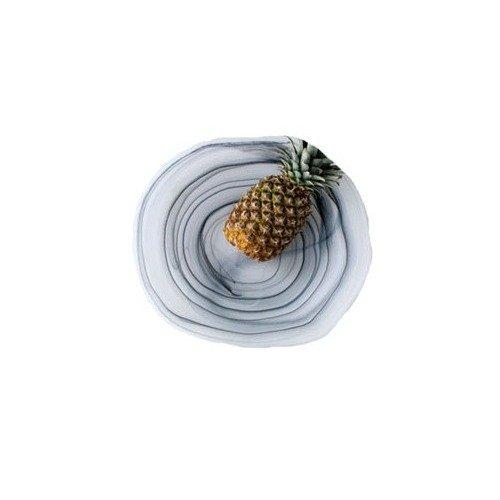 Shiraleah Large Taupe Frosted Alabaster Freeform Serving Bowl ()