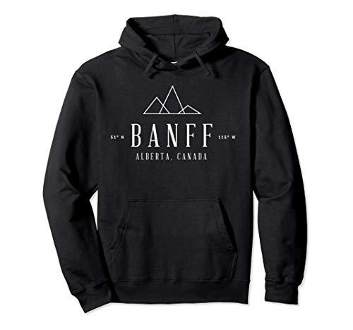 Vintage Banff, Alberta, Canada, National Park Hooded Sweater