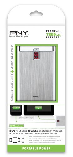 PNY BD7800 7800mAh 1 / 2.4 Amp PowerPack - Universal Portable Rechargeable Battery Charger for Apple iPhone /iPad, Samsung Galaxy/Note/Tab, Nexus, HTC, Motorola, LG, BlackBerry, and other Android Smartphones & Tablets by PNY (Image #1)