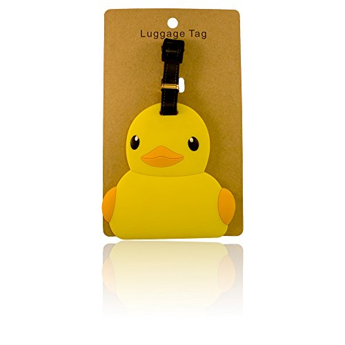 DIYJewelryDepot 1Pc Chick PVC Large Size Suitcase Luggage Name ID Tag Cute for Travel or Schools