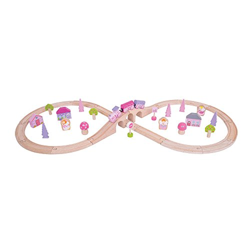 Bigjigs Rail Wooden Fairy Figure of Eight Train Set - 40 Play Pieces
