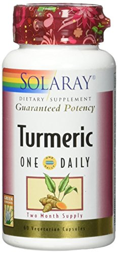 Solaray Turmeric One Daily 600 mg Veg Capsules, 60 Count For Sale