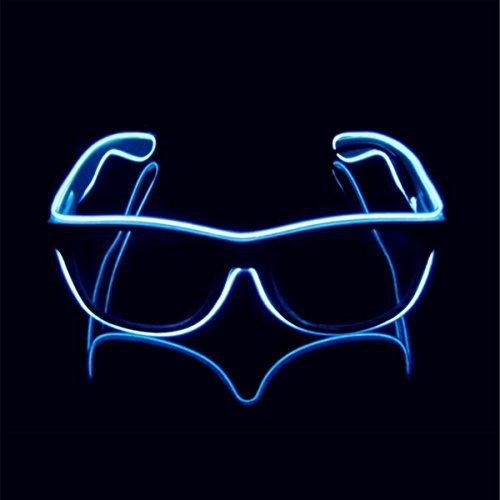Stylestore Light Up El Wire Glasses Glow-in-The Dark Night Party & Celebrating Glasses