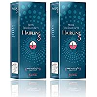 Hairline Minoxidil 5% Solution For Hair Regrowth & Hair Loss Treatment (2 bottles x 60ml)