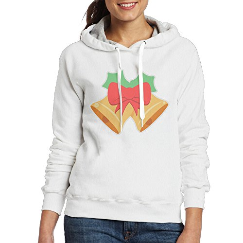 Merry Christmas Bells Women's Hoodie M White - Toothless Costume Videos