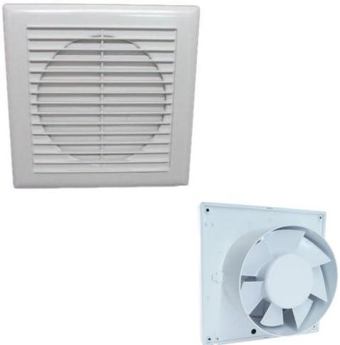 Aspirador a panel 25 W Extractor Aire malos olores ventana paredes: Amazon.es: Hogar