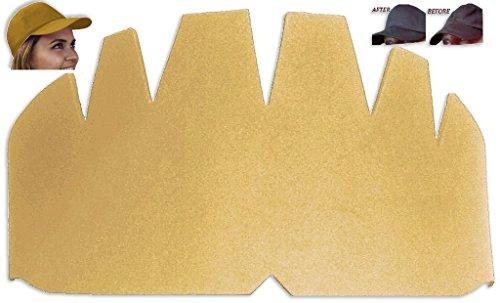 4Pk. Beige Baseball Caps Crown Inserts| Hat Stretcher| New Era Insert| Ball Caps Form| Brim Hat Crown| Hat Support| Fitted Cap, Flex Fit Cap and Snapback Hat Panel Shaper| Hat curve | Dad Caps Inserts