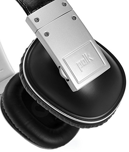 Polk Audio Buckle Headphones - Black/Silver - with 3 button control and microphone Photo #2