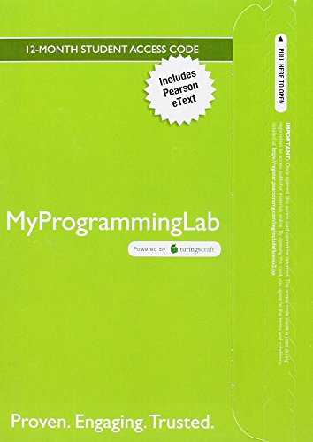 Mylab Programming with Pearson Etext -- Access Code Card -- For Problem Solving and Program Design in C (Problem Solving And Program Design In C)