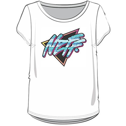 Price comparison product image Neff Girls Daily Triangle Short-Sleeve T-Shirt / Tee,  White,  Medium