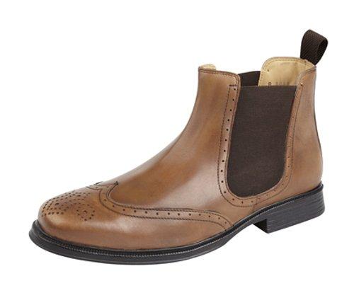 Roamer - Botas de cuero para hombre marrón - canela