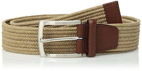 Perry Ellis Men's Stretch Belt, New Khaki, (Perry Ellis Khaki)