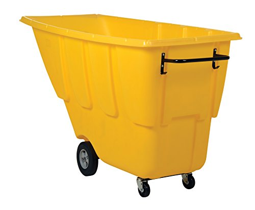 Vestil TDT-100-LD-YELLOW Light Duty Tilt Truck, 1 cu. yd, Yellow - 1 Cu Yd Tilt Truck
