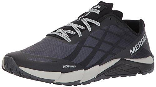 Merrell Men's Bare Access Flex Trail Runner, Black/Silver, 11 M US by Merrell