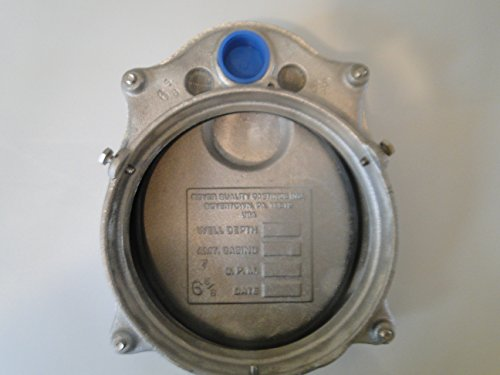 ROYER WATER WELL CAP 6'' ALUMINUM VENTED WATERTIGHT FITS 6-5/8'' OD CASING by Royer Corporation (Image #1)