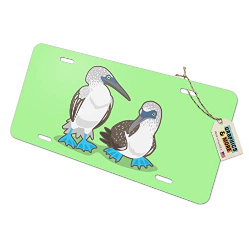 Graphics and More Pair of Blue Footed Boobies Novelty Metal Vanity Tag License Plate