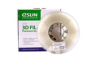 eSUN 3D 1.75mm PETG Natural Filament 1kg (2.2lb), PETG 3D Printer Filament, Semi-Transparent 1.75mm Natural by ESUN