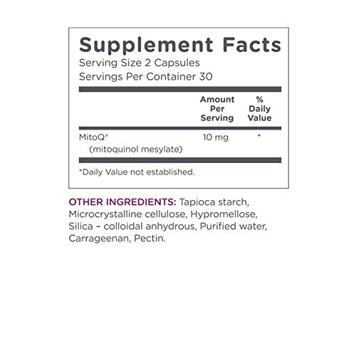 MitoQ Antioxidant Supplement 180 Capsules - Advanced CoQ10 Ubiquinol for Healthy Organs and Cellular Health Support by MitoQ (Image #3)