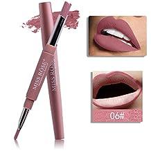 Binmer(TM) MISS ROSE Double-end Lasting Lipliner Waterproof Lip Liner Stick Pencil (F)