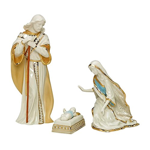 Lenox First Blessing Nativity Holy Family Figurine Set 3 Piece Mary Joseph Baby Jesus ()