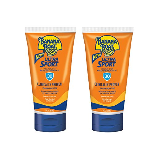 - Banana Boat Ultra Sport Sunscreen Lotion, New Formula, SPF 30, 3 Ounce TSA Approved Travel Size (Pack of 2)