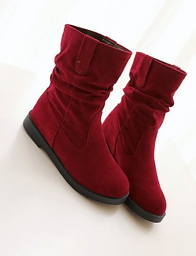 Moda us9 Redonda Vestido negro Sintético Eu42 La 8 Casual 10 Plegado Xzz Ante Punta 5 Cn43 Eu41 Black 5 De Mujer Red Uk7 5 us10 A Plataforma 5 Cn42 Zapatos Uk8 Botas PPwvYqS