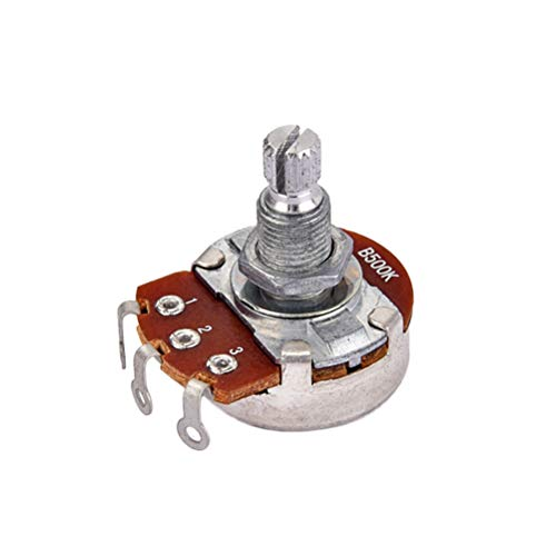 tiometer Long Knurled Split Shaft Electric Bass Guitar Volume and Tone Pots Audio Taper Switch Potentiometer ()