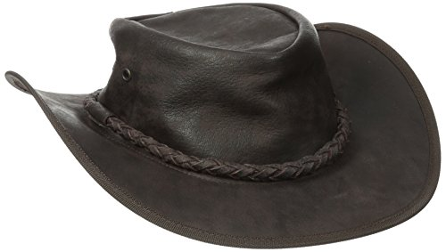 (Henschel Soft Cowhide Outback Hat, Brown, Large)