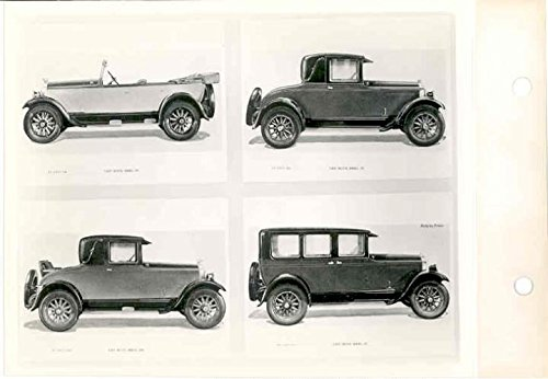 1927 Buick Factory Photo Shows 4 Models