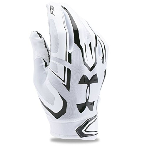 Under Armour Mens F5 Football Gloves, White/Black, Large