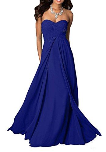 Partykleider Marie Royal Brautjungfernkleider Herzausschnitt Abschlussballkleider Chiffon Abendkleider La Blau Elegant Braut 4wUdxYqqH
