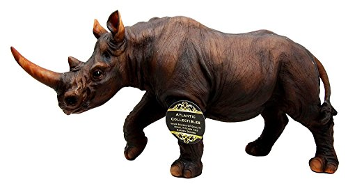 Ebros African Safari Grasslands Rhinoceros Beast Decorative Figurine 11 Long Rhino Statue Endangered Wildlife Decor
