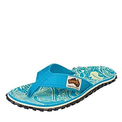 d54a58a5745c Gumbies Islander Signature Pattern Turquoise Women s Flip Flops  Amazon.co. uk  Shoes   Bags