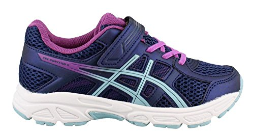 ASICS Kids Baby Girl's Gel-Contend 4 PS (Toddler/Little Kid) Indigo Blue/Porcelain Blue/Orchid 2.5 M US Little Kid