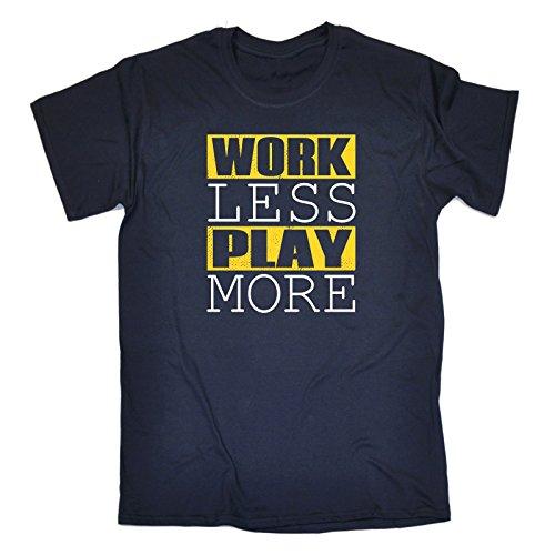 con marino manga Slogans para hombre de eslogan 123t Camiseta corta azul v7gn7x