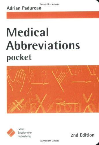Medical Abbrevations Pocket