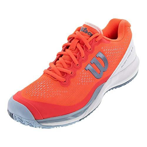(Wilson Rush Pro 3.0 Women's Tennis Shoes - Fiery Coral/White/Cashmere Blue Size Women's: US 7.5 )