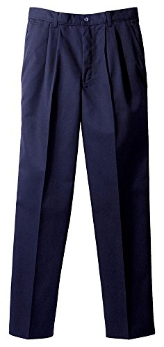 Edwards Men's Blended Chino Pleated Pant, NAVY, (Mens Blended Chino)