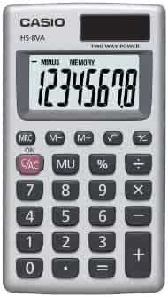Casio Inc. HS8VA Standard Function Calculator