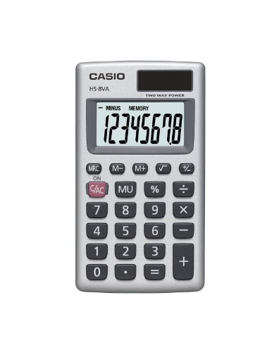 Casio HS8VA Standard Function Basic Office Calculator