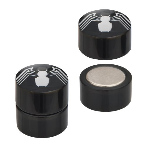 Spiderman UV Acrylic and 316L Surgical Steel Magnetic Fake Plugs