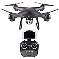 Professional Photography 1080P HD 120° wide-angle Camera Quadcopter - Headless Mode 2.4GHz GPS FPV Drone - S70W - WIFI real-time images by Perman (Black)