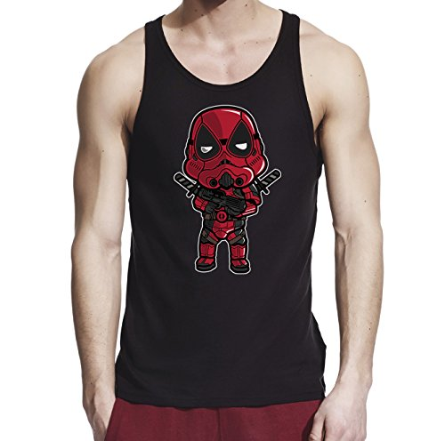 [Inspired by Star Wars Trooper Deadpool Warrior, Men Black/Navy Blue 100% Softstyle Cotton Tank Top S-2XL,] (Cheap Star Wars Shirts)