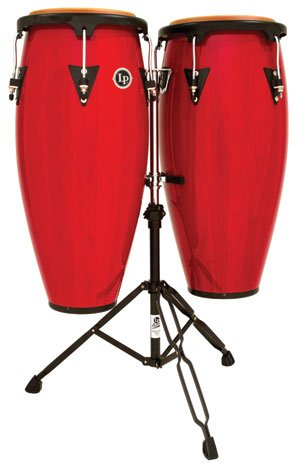 (Lp Latin Percussion Aspire Wood Conga Set Red Stain (10 & 11 Inch))