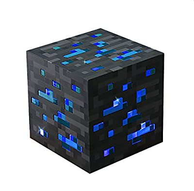 ThinkGeek Minecraft Light-Up Diamond Ore Officially Licensed in ThinkGeek Packaging
