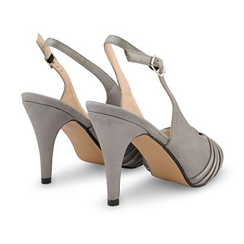 Footwear Sensation - Sandalias de vestir para mujer gris