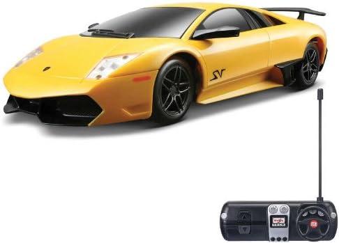 Vehículo de radio control - - Maisto Lamborghini Murcielago LP670-4 SV - 1/24 Escala: Amarillo , color/modelo surtido
